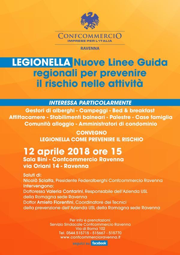 LEGIONELLA: INCONTRO A RAVENNA SULLE LINEE GUIDA REGIONALI GIOVEDI